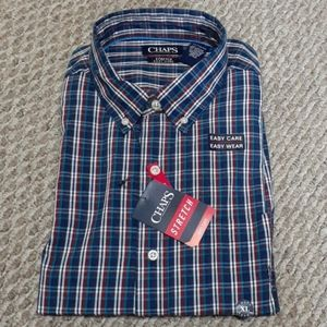 Chaps Mens Stretch Long sleeve Shirt Size XL